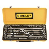 "STANLEY 43 Piece 1/2"" Drive Socket Set [89-509-23] - Kunci Sok Set"